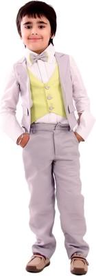 KIDOLOGY Waist Coat Set Solid Boy's Suit