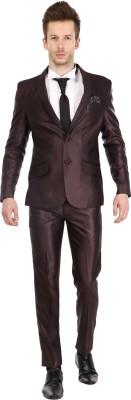 Platinum Studio Tuxedo Style Solid Mens Suit