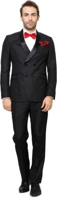 Peter England Single Breasted Solid Men's Suit