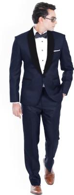 Hangrr Premium Single Breasted Tuxedo Solid Men's Suit
