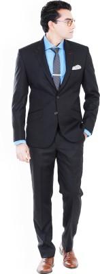 Hangrr Premium Single Breasted Formal Suit Solid Men's Suit