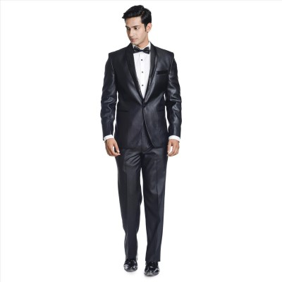 Adam In Style Carban Shine Single Breasted Solid Men's Suit
