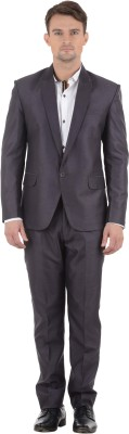 Azio Design Single Breasted Solid Men's Suit
