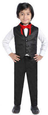 Jeet Shirt, Waistcoat and Pant Set Self Design Boy's Suit