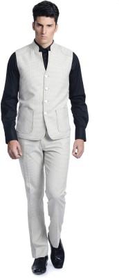 Luxurazi Checkered Solid Men's Suit