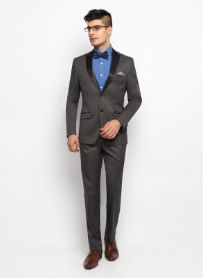 SUITLTD Single Breasted Solid Men's Suit
