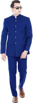 Hangrr Premium Single Breasted Jodhpuri Suit Solid Men's Suit