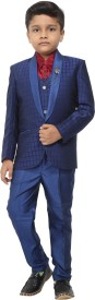 Naveens Suit Solid Boys Suit