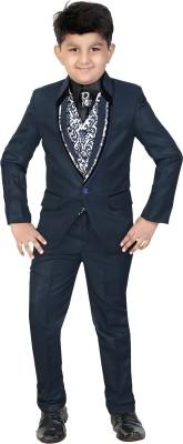 Kute Kids Coat Suit Set Solid Boy's Suit
