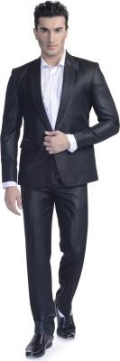 Luxurazi Peak Lapel Solid Men's Suit