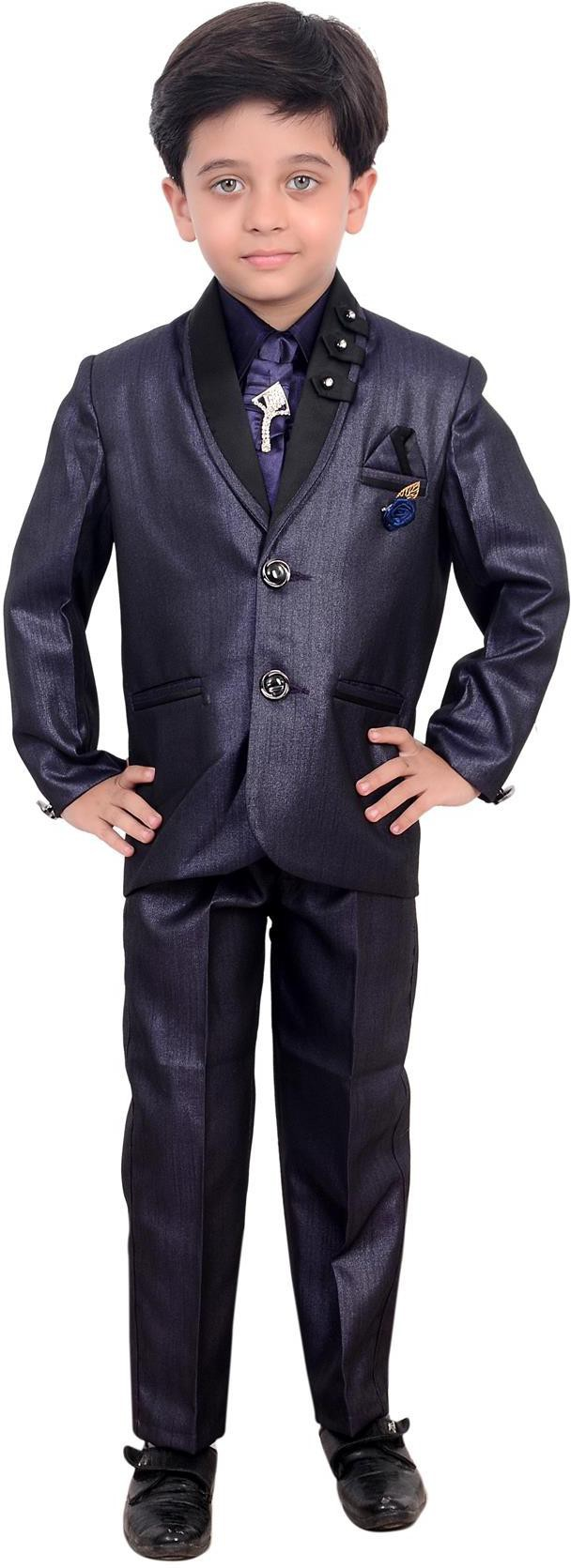 Arshia Fashions Two Buttoned Solid Boys Suit