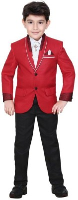 Kute Kids Self Design Boy's Suit