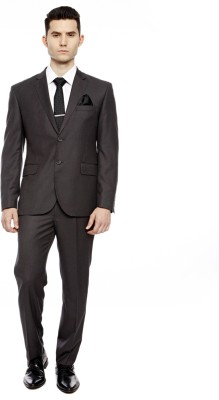 Brahaan Blue Tag Single Breasted Solid Men's Suit