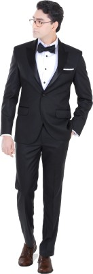 Hangrr Premium Single Breasted Solid Men's Suit
