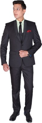 Shaurya-F Single Breasted Solid Men,s, Boy,s Suit