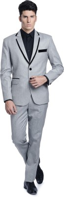Luxurazi English Dandy Single Breasted Solid Men's Suit