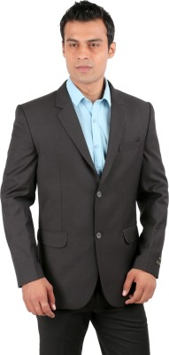 Jhampstead Single Breasted Solid Men's Suit