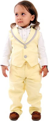 KIDOLOGY Waist Coat Set Solid Baby Boy's Suit