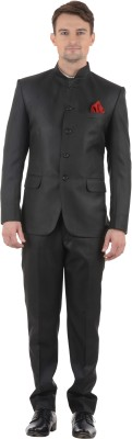 Azio Design Mandarin Solid Men's Suit
