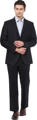 GIVO Midnight Blue Formal Solid Men's Suit