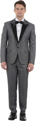 Azio Design Tuxedo Solid Men's Suit