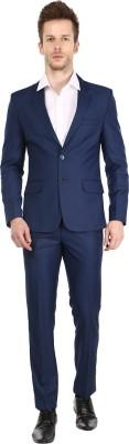 Platinum Studio Single Breasted Solid Men's Suit