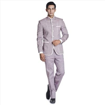 Adam In Style Elite Shine Single Breasted Self Design Men's Suit
