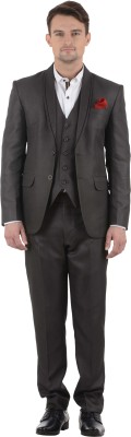 Azio Design Double Breasted Solid Men's Suit