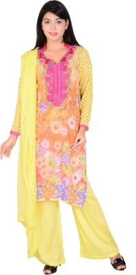 S S Creations Salwar Suit Graphic Print Women's Suit