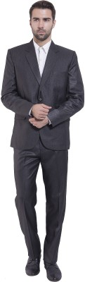 Wintage Single Breasted Solid Men's Suit