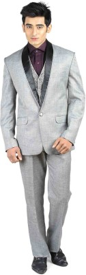 Luxurazi Premium Three Pc Suit Solid Men's Suit