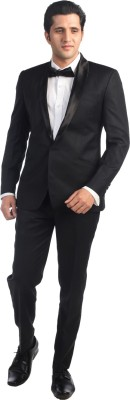 Hangrr Classic Wedding Tuxedo Single Breasted Solid Men's Suit