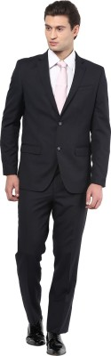 GIVO Italian Midnight Blue Formal Solid Men's Suit