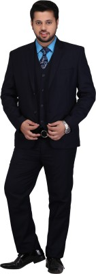 MEN.XS Single Breasted Solid Men's Suit