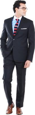 Hangrr Wall Street Single Breasted Striped Men's Suit