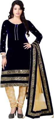 Raagvi Velvet Embroidered Salwar Suit Dupatta Material