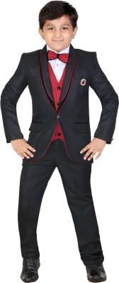 Kute Kids Coat Suit Self Design Boy's Suit