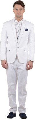 Azio Design Single Breasted Solid Men's Suit
