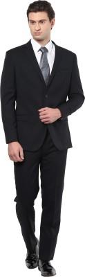 GIVO Italian Black Striped Formal Striped Men's Suit