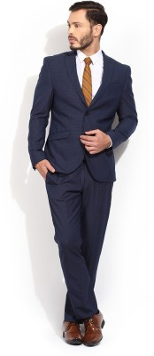 Blackberrys Single Breasted Checkered Men,s Suit