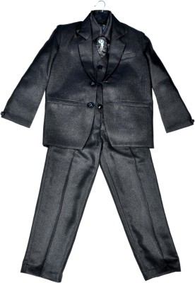 HEYBABY Coat Suit with Blaizer Solid Boys Suit