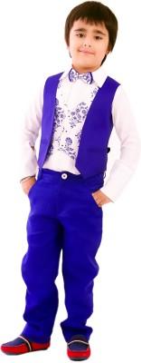 KIDOLOGY Waist Coat Set Printed Boy's Suit