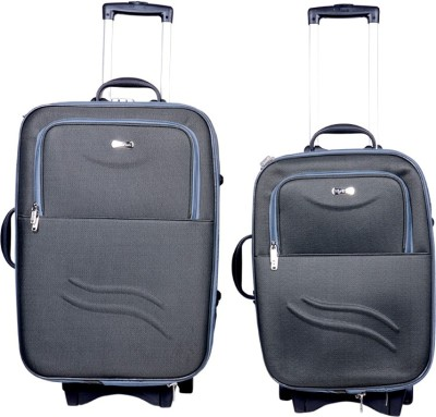 Sk Bags NOVA 32 Inch 20+24 Inch SET STROLLYBAG GY Expandable  Check-in Luggage - 25