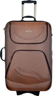Grevia Bags 8100_24_Brown Expandable  Check-in Luggage - 24