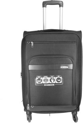 Aristocrat Atlantica 4w exp strolly 54 black Expandable  Check-in Luggage - 23.6