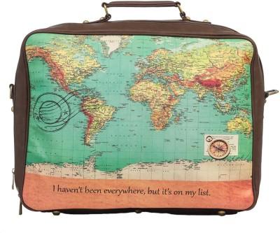 Bandbox World Map Suitcase Bag Cabin Luggage - 120 inch(Multicolor)