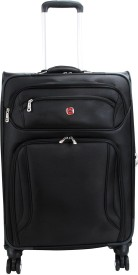 """Wenger 24"""" Spinner-Black/Zurich Expandable Check-in Luggage - 24 inch(Black)"""