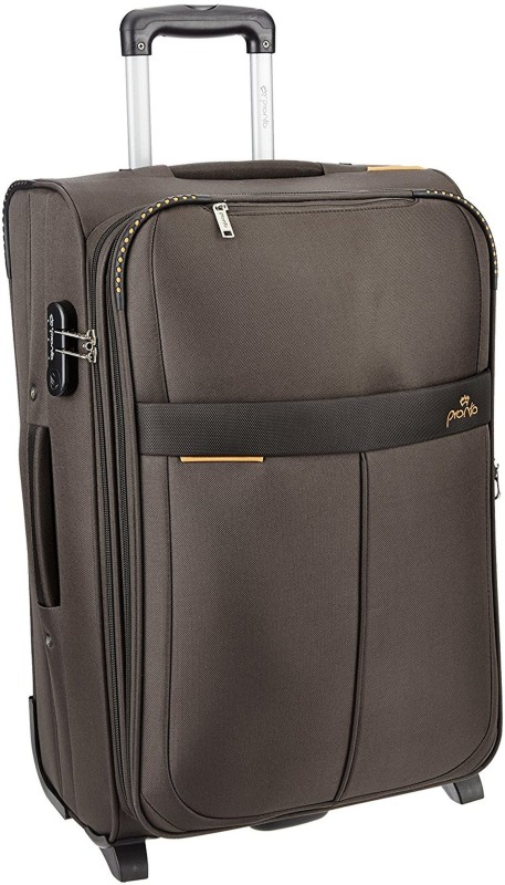 Pronto Oxford Expandable Cabin Luggage - 20 inch(Brown)