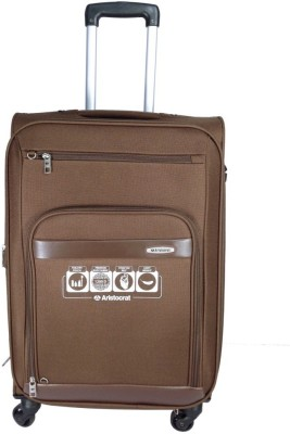Aristocrat Atlantica 4w exp strolly 54 brown Expandable  Check-in Luggage - 23.6