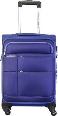 American Tourister At Speed Spinner55Cm Royal Blu Cabin Luggage